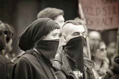 Ready to Rumble (bazza_barrett) Tags: london riot mask protest violence riots protestors