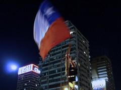 Chile a Brasil 2014 (alobos Life) Tags: chile santiago streets de flag sony flags celebrations bandera banderas calles chilena chilenos chileans nex5r