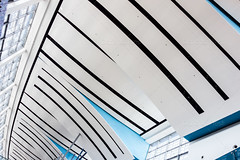Modern ceiling (Dario Lo Presti) Tags: blue roof light urban white abstract building industry geometric window glass station metal wall architecture modern mall design hall office high airport technology panel tech bright steel interior empty perspective skylight corridor indoor nobody terminal structure ceiling architectural illuminated hallway clean business laboratory huge inside tall futuristic architectonical