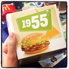 Back to 1955 (Elysia in Wonderland) Tags: food 1955 tomato square bacon box burger lofi mcdonalds lettuce fries squareformat snack hamburger kendal iphoneography instagramapp uploaded:by=instagram