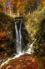 Fahler Wasserfall HDR #2 (Michael-Herrmann) Tags: autumn summer black color colour fall water colors leaves forest river michael waterfall high nikon colorful wasser dynamic wasserfall indian herbst sigma mm range 1020 schwarzwald blackforest hdr farben bunte herrmann fahler d5100