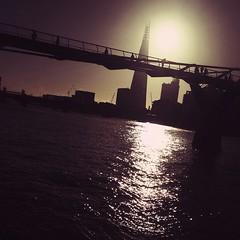 sunrise (auketts) Tags: sun london square millenniumbridge squareformat shard intothesun iphoneography instagramapp uploaded:by=instagram foursquare:venue=4ac518cef964a52022a620e3