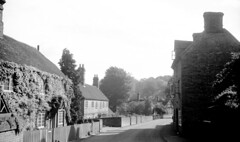 England 1938, The Street, Puttenham 8-010 (rich701) Tags: england blackandwhite bw london castle church windmill thames 35mm vintage garden 1930s bradford compton 1938 rustic cottage negative stonehenge windsor winchester corfe bradfordonavon wisley avebury burton cirencester thatched silburyhill castlecombe lacock bibury elstead thursley shere witley thatchroof filmroll blewbury greywell tilford hagbourne uptongrey corfevillage wanborough hendred aldsworth arebury arelingtonrow staintcross