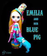 Emilia and her Blue Pig