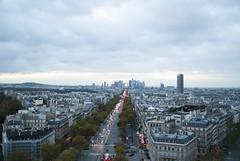 Paris 2013 (Courtney Brock Photography) Tags: city paris france tower night de evening arch eiffel triumph