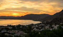 A Colourful & Lovely Pefkos Sunset (Fuji XM1 & 16-50mm Zoom lens) (markdbaynham) Tags: sunset sky cloud colour landscape greek fuji view hellas dramatic x greece grecia scenary trans pefkos rodos rhodes fujinon csc hellenic pefki xm1 digitaldepotcouk