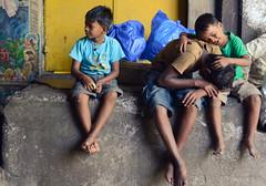 friendship ([s e l v i n]) Tags: friends india boys kids relax friend candid laundry bombay mumbai mahalaxmi dhobighat boyssitting selvin openairlaundromat lifeindhobighat
