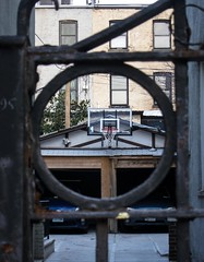Hoop (doug turetsky) Tags: brooklyn alley parkslope driveway basketballhoop vision:text=0613 vision:outdoor=0768