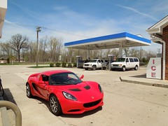 Lotus Elise S3 SC (Hertj94 Photography) Tags: red sc public illinois nikon lotus elise may engine exotic british spotted deerfield s3 coupe mid i4 rwd 2013 s8200