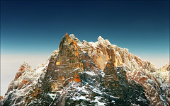 Peaks   -  Happy new year..:))) (Katarina 2353) Tags: desktop new travel blue winter light sunset wallpaper vacation sky panorama sculpture orange white france mountains color reflection art film nature beautiful rock analog landscape happy photography phot