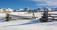 Colorado Winter (Amy Hudechek Photography) Tags: winter mountain snow cold fence colorado sanjuanmountains lastdollarroad happyphotographer mygearandme mygearandmepremium mygearandmebronze amyhudechek