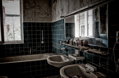 bathroom (Goddl) Tags: road camera old trip school windows light urban color art abandoned rotting beautiful beauty architecture photoshop germany dayofthedead deutschland death photo still interesting nikon europe die photographer shadows silent darkness dynamic decay live empty exploring awesome explorer ruin corridor atmosphere thueringen thuringia best adventure forgotten vacant processing rusting waste exploration gym schloss derelict labyrinth retouching decayed burg verlassen castell buillding urbex disappear verfall rework ahnen photomatix interetingness fision goddl