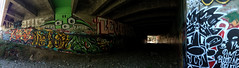 (Nomad_Vagrant) Tags: green art abandoned northerncalifornia monster creek graffiti exploring tunnel bayarea roller southbay yerup