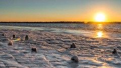 Fire and Ice (Southern New England Photography) Tags: winter sunset sky snow ice beach water canon fire unitedstates riverside shoreline newengland rhodeisland northamerica sigmalens eos70d sigma1750mmf28dcoshsm nikcollectionbygoogle