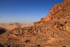 Wadi Rum (www.JnyAroundTheWorld.com - Pictures & Travels) Tags: jordan jordanie desert wadi rum wadirum landscape unesco scenery paysage nature lawrencedarabie lawrence arabia rock camels day clear jny canon jnyaroundtheworld jenniferlavoura