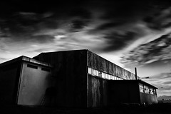 My workshop (Ilias79) Tags: longexposure light sky blackandwhite bw monochrome closeup mystery clouds contrast canon buildings mono mood atmosphere workshop process tamronspaf1750mmf28xrdiiild