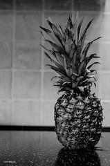 Sweet Pineapple! (BGDL) Tags: blackandwhite kitchen monochrome fruit pineapple 31 niftyfifty 7daysofshooting nikond7000 blackandwhitewednesday bgdl lightroom5 nikkor50mm118g week31sweetandorsour