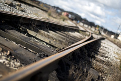 Track to ? - Midland Railway (tim jg photography) Tags: abstract nature lines weeds track derbyshire railway blurred trains junction line points traintrack touristattraction attraction midlandrailway sleepers focallength heritagerailway visitorattraction swanwickjunction