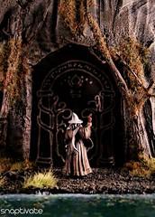Doors of Durin (Snaptivate) Tags: miniature friend doors games lord rings workshop gandalf enter hobbit tolkien speak fellowship balrog moria durin
