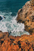 Heavy spilling at the southern atlantic cliff line of Portugal (Steffen Kamprath) Tags: algarve nopeople portugal scenery water distriktfaro sonya77 tamronspaf1750mmf28xrdiii slt dslr apsc landscape amount zoomlens natural travelphotography traveling vacation europa europe travel shore ocean sea seascape coast nature