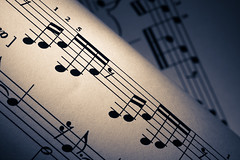 prelude patterns (johngpt) Tags: music macro notes patterns sheetmusic score hmm splittoned jsbach f110 macromondays preludeinc fujifilmxt1 micronikkor55mmf28aisimp fotodioxnikfxadapter