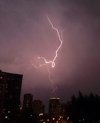 Lightning! ((Jessica)) Tags: chicago storm weather night buildings thunderstorm lightning thunder ilightningcam