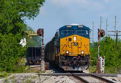 CSX 3080 EVWR HSH1 Epworth IL 17 May 2014 (Train Chaser) Tags: csx es44ac evwr evansvillewestern evwrhsh1 csxt3080