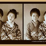 CUTE GEISHA & MAIKO by WINDOW LIGHT --  3D Mock-Up from a Proof-Print in the CMP thumbnail