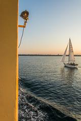 Begleitschiff (rahe.johannes) Tags: wasser baltic ostsee kiel segelschiff fhre schleswigholstein abendstimmung frde