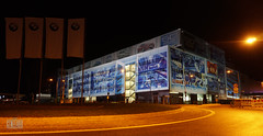 50 Jahre BMW Niederbayern - Wir Sagen Danke (genelabo) Tags: 50 jahre bmw niederbayern dingolfing pani grosbild projektion projection light installation night auto car blue outdoor werk crushed eyes genelabo slide dia visual nightlights wir sagen danke