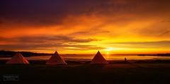 Summernight, Lofoten. Norway (Torbjrn Tiller) Tags: hov gimsy lofoten norway sunset midnightsun midnight lavvo