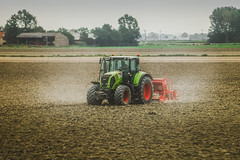 dusty (kderricotte) Tags: france farm tractor dust land ground sonya6000 55210mm europe