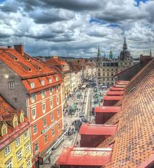 Old Town of Graz (madbesl) Tags: graz steiermark sterreich austria styria europa europe altstadt oldtown photomatix hdr herrengasse hauptplatz rathaus