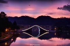 20160929  (HDR) (Stuart Chen Photography) Tags:  lake  bridge  mountain   cloud      neihu   taipei taiwan  nikon d5500 hdr