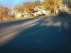 13/16 (nikaylasnyder) Tags: motion blur long exposure swirl landscape trees homes houses mcdonalds blue skies fall autumn filter