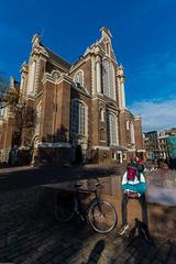 Deliveroo'ed (subterraneancarsickblues) Tags: amsterdam holland netherlands europe wide wideangle street city urban prinsengracht church westerkerk rembrandt renaissance canon 6d eos6d 1635mm f4l lseries
