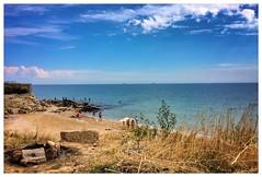 2016. Odesa. Ukraine (bobobahmat) Tags: cloud said yellow blue sky landscape nature vacation water sea black beach ukraine odesa townport city color