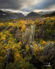 Snowdonia's Autumn Splendour (Greg Whitton Photography) Tags: autumn cymru landscape snowdonia sony wales a7rii llanberis fall trees colour moody light quarry quarries slate