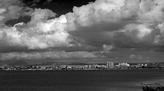 Nubes en el Mar Menor (Fotgrafo-robby25) Tags: byn fujifilmxt1 marmenor nubes sanjaviermurcia