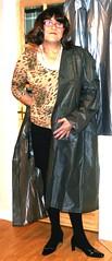 Grey Plastic Mac (Old Photo) (Miss Pakamac) Tags: pakamac plasticmac plasticraincoat