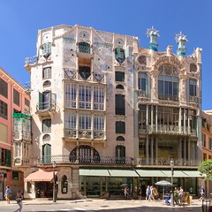 DSC_0063 (mkk3a) Tags: architektura canfortezarey hiszpania majorka mallorca palma palmademallorca obrbka secesja shiftn