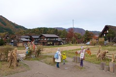 Scarecrows and scare horses (Frank Fujimoto) Tags: ogimachi japan