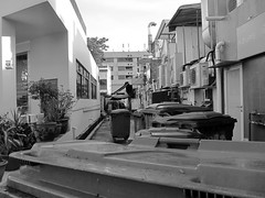 Back Lane-Canon S90 (Floy Chan) Tags: canons90 blackwhite backlane