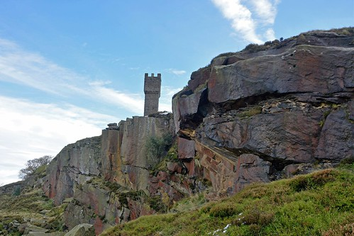 Old quarry face below Lund's Tower