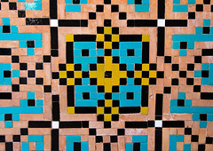 Mosaic pattern with ceramic tiles in a mosque, Isfahan province, Isfahan, Iran (Eric Lafforgue) Tags: 0people ancient architecture art ashura ceramic colorimage coloured cultural culture decorated decoration esfahan hispahan history horizontal iran iranianculture isfahan ispahan middleeast mosaic muharram multicoloured mural nopeople nobody orient ornate pattern persia persian sepahan shia shiite tile tiled tiles tilework traditional isfahanprovince ir