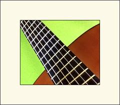 Rhythm (Bob R.L. Evans) Tags: patterns music guitar vivid green minimalism usual sounds ipadphotography simple defamilarization