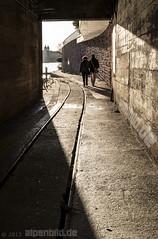 Rail, Tunnel and Walker (alpenbild.de) Tags: d800 d800e nikond800e nikon alpenbildde city fluss fullframe fx heidelberg landscape landschaft odenwald river stadt stollen tunnel vollformat wasser water     badenwrttemberg deutschland