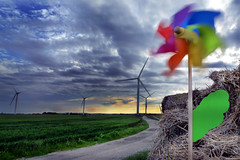Pretty Windy (Thedeeves) Tags: landscape environmentalphotography colour clouds windpower windturbine sustainability power wind