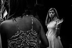 _DSC4091 (stimpsonjake) Tags: nikoncoolpixa 185mm streetphotography bucharest romania city candid blackandwhite bw monochrome woman hand fingers dress