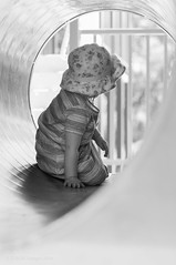 Fun in the sun (Michelle.Barton.Images) Tags: child portrait summer warm play tunnel baby girl
